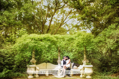 Image of bride & groom in Airlie Gardens - Airlie Gardens Wedding Photographers