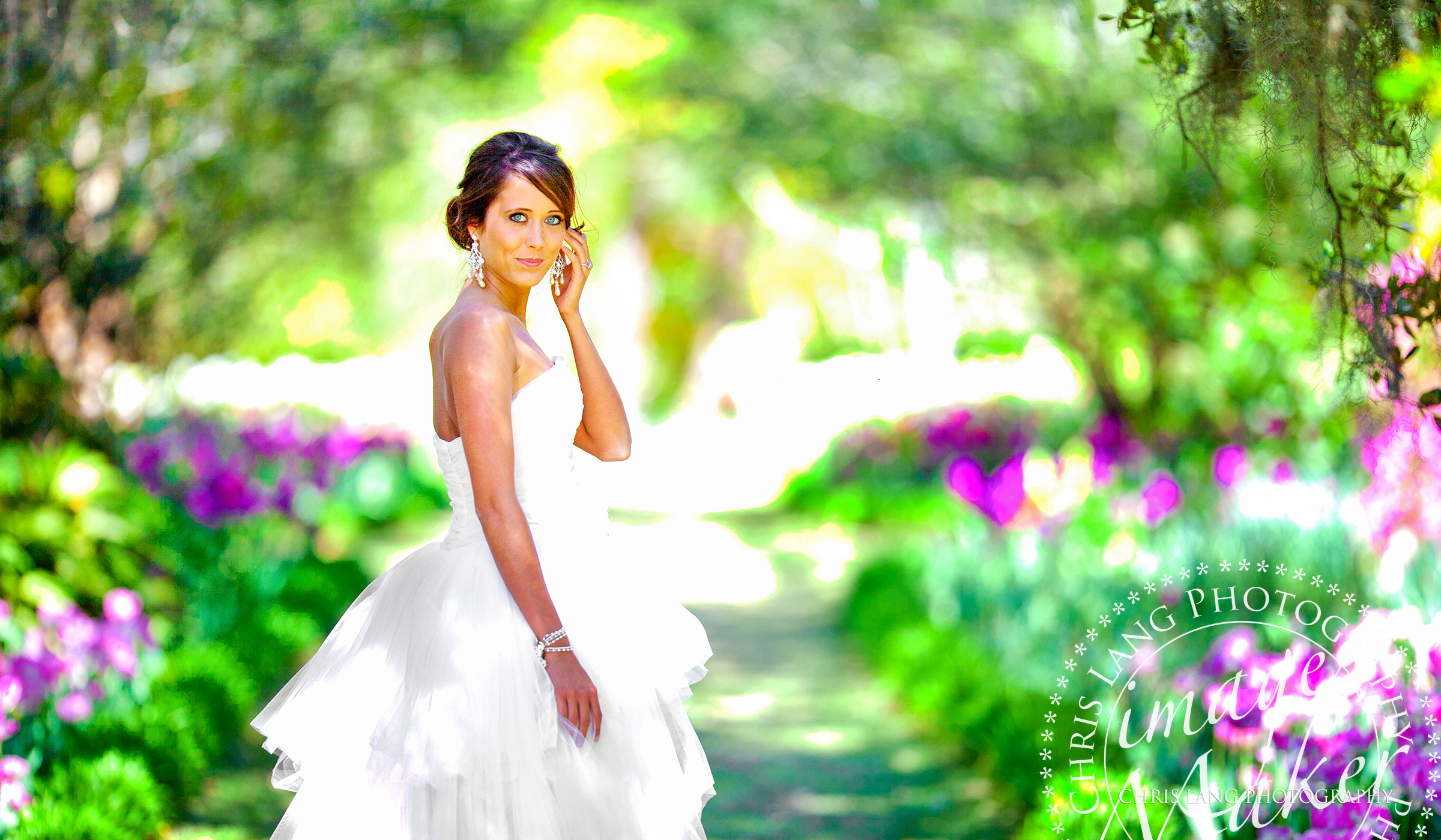 Natural Light Wedding Photography-Bride-Bridal Picture-Airlie Gardens-Bridal Style-
