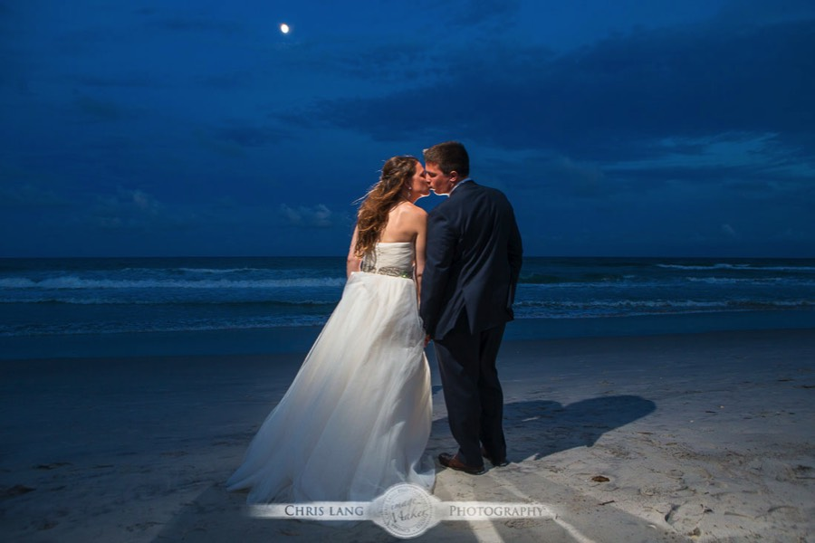 Wrightsville Beach Wedding Photographers Newly Weds On The Kissing Under A