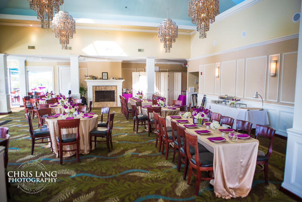 Image Of Interior Bluewater Grill Wedding Reception Set Up Wrightsville Beach Nc
