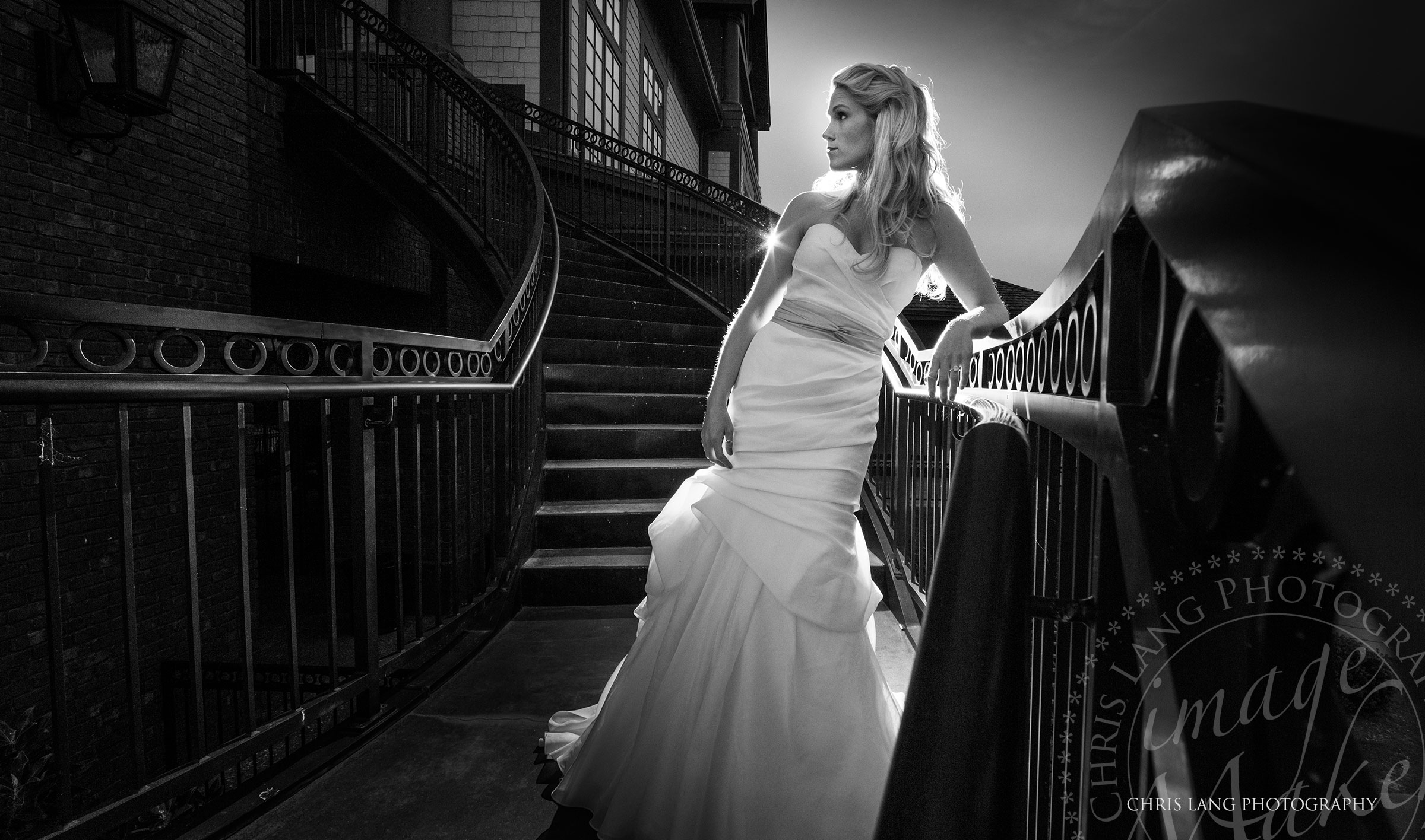 Fine art bridal photography in black and white