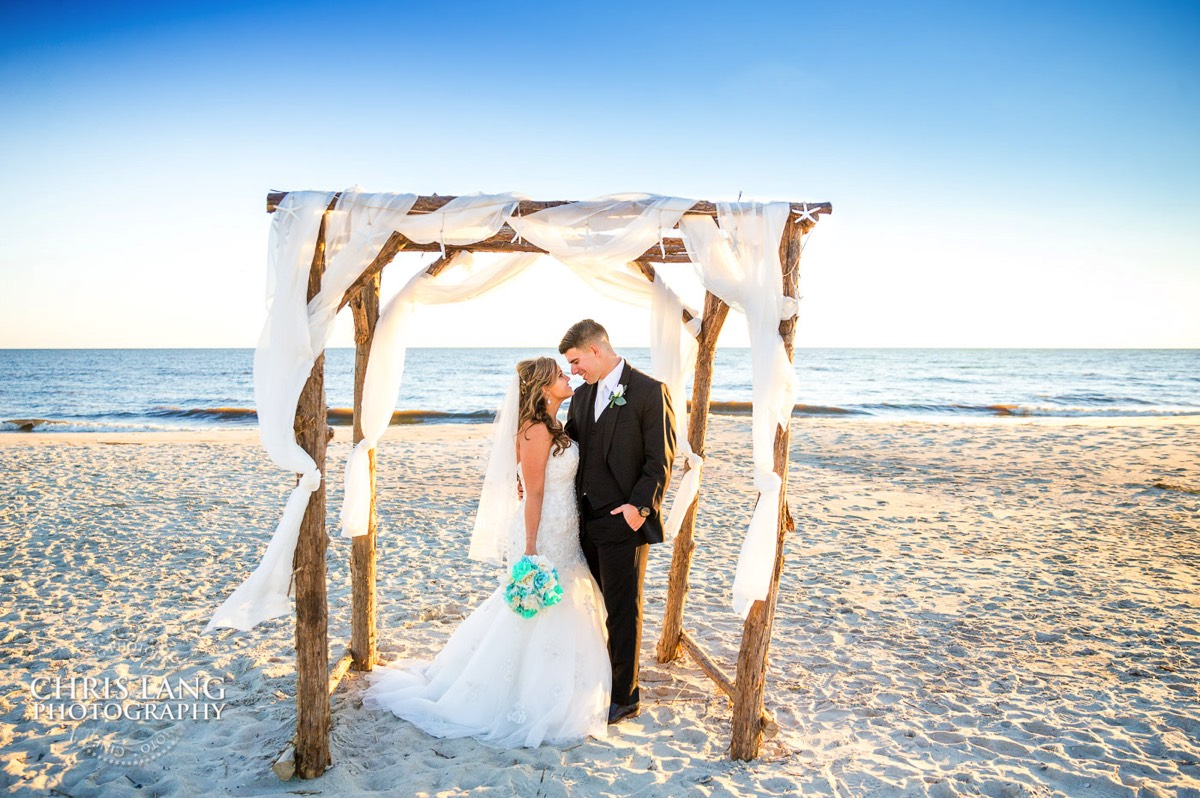 Oak Island Wedding Ceremony Photographers Image Beach