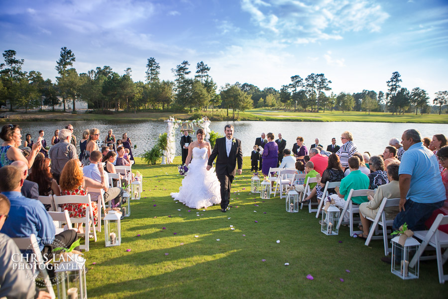 Wedding ceremony on the Lawn of RIver Landing - Wallace NC