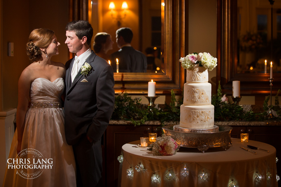 Image of Bride & Groom in the Grand Ballroom at River Landing