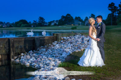 Country Club of Landfall Weddings -  Wedding Photography - bride & groom - Chris Lang Weddings