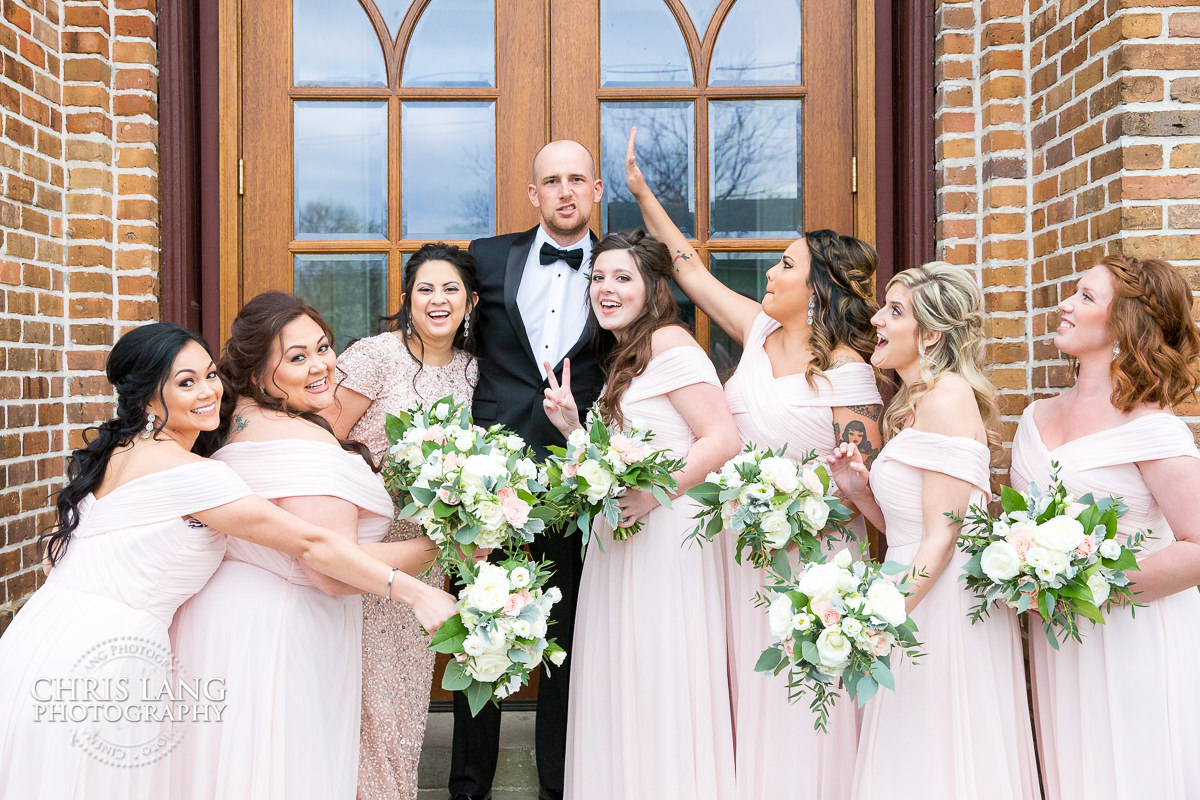 Brooklyn Arts Center Weddings Wilmingotn Nc Bridesmaids Groomsman Bridal Party Photography