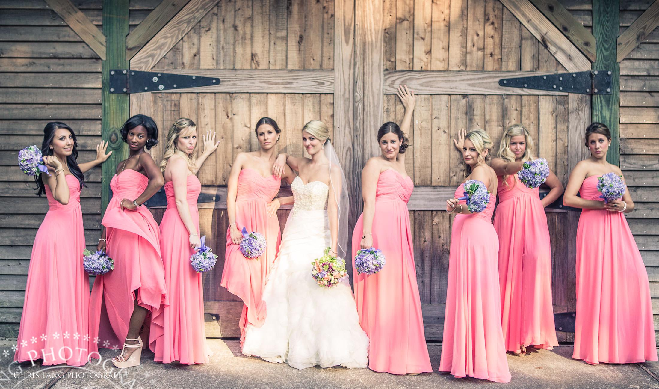 Bridesmaids Movie Pose Birdemaid Photos Wilmington Nc Wedding Photographers Bridal Party